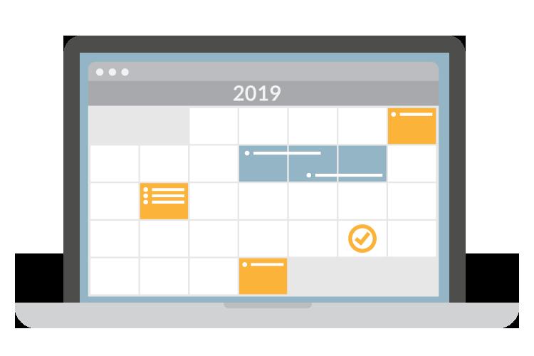 Using our 2019 marketing calendar