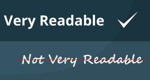 readable readability