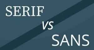 serif versus sans