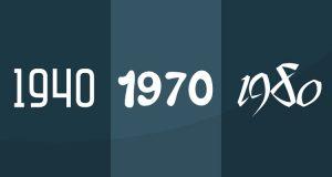 years 1940, 1970, 1980